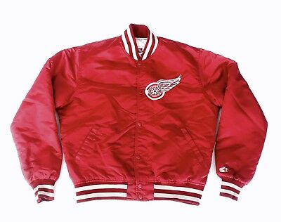 Detroit Red Wings Vintage NHL Starter American Hockey Bomber Satin Jacket Large
