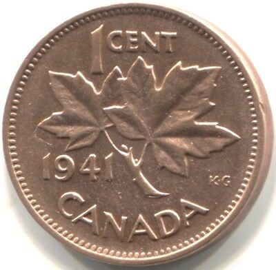 1941 CANADA ONE CENT Coin