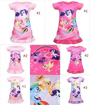 New Kids Girls My LIttle Pony Dresses Nightwear Nightdress Pyjamas Skirts 3-8Yrs