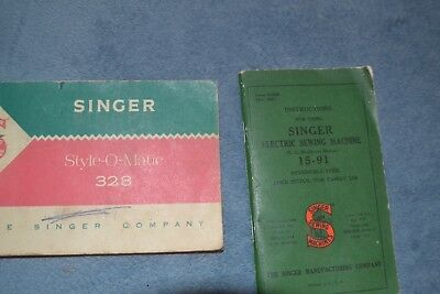 Two Singer Sewing Machine Instructions Manual