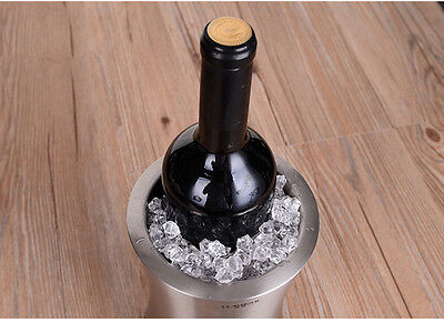1pc home bar stainless steel waist double-layer wine ice bucket cooler chiller