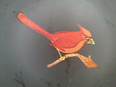 "VINTAGE COUROC CARDINAL BIRD  7 1/2"" Round Serving or Utility Dish Matte Finish"