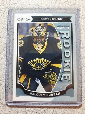 2015-16 O-PEE-CHEE Marquee Rookie Malcolm Subban - Boston Bruins