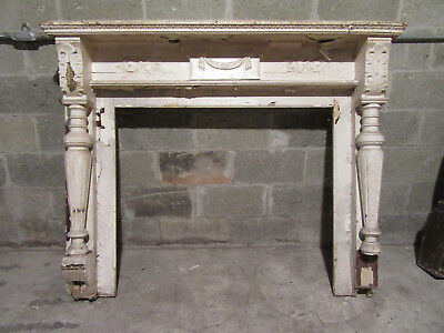 """~ Antique Carved Walnut Fireplace Mantel ~ 41"""" Opening ~ Architectural Salvage"""