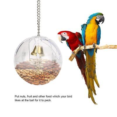 Parrot Feeder Toy Cage Hanging Foraging Ball Fruit Nut Container for Pet Bird