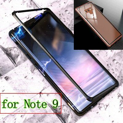 Magnetic Adsorption Metal Case Cover for Samsung Galaxy Note 9 Screen Protector