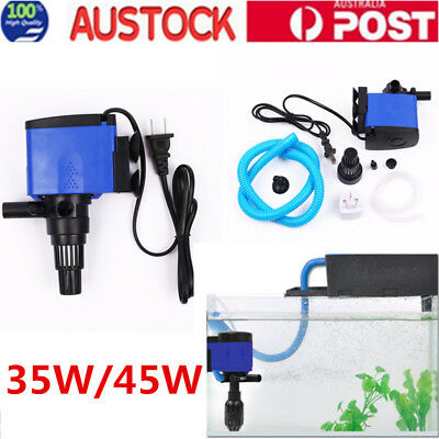 3 in 1 Aquarium Fish Tank  Internal Purifier Filter Oxygen Water Pump AU