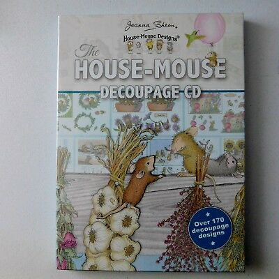 THE HOUSE MOUSE DECOUPAGE CD- HOUSE MOUSE DESIGNS from JOANNA SHEEN 170+ DESIGNS