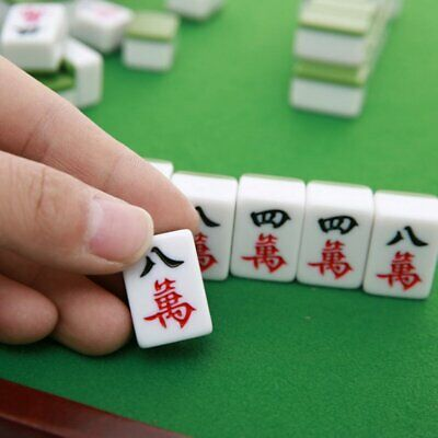MahJong Game Set 1KG Chinese Mahjong Rare Game 144 Tiles Mah-Jong Set OD