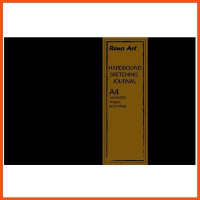 10 x RENO ART 110 GSM A4 SKETCHING JOURNAL 128 PAGES | Hardcover Bound Landscape