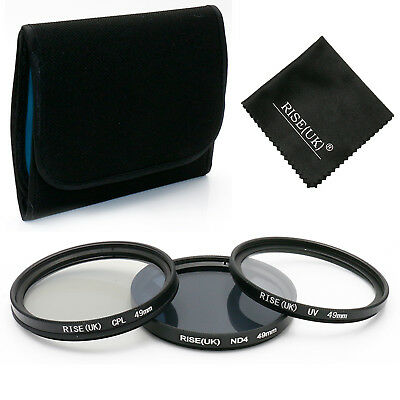 49mm UV ND4 CPL Polarizing Lens Filter Kit For Canon Nikon Sony Sigma Tamron