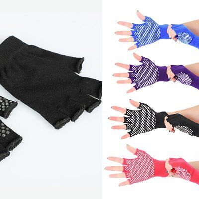 Non-slip Cotton knit Silica gel Bodybuilding Yoga gloves W0