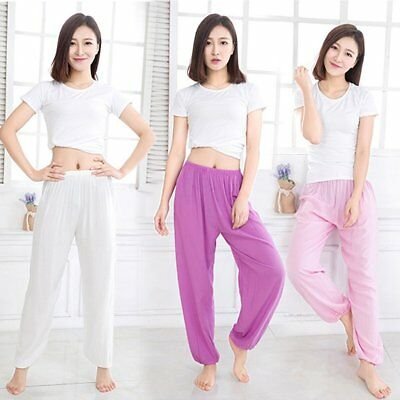 Adult martial arts Tai Chi pants cotton silk Yoga Pants W0