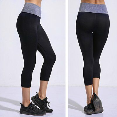 Moisture absorption sweat sweating body lady seven pants Yoga pants W0