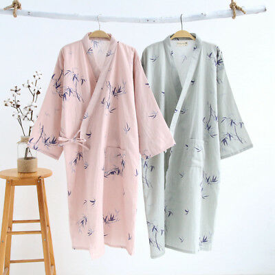 Spring Summer Mens Womens Supersoft Dressing Gown Short Bath Robe Kimono Pajamas