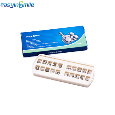20/Pack Easyinsmile Dental Orthodontic MBT/ROTH Metal Bracket 0.022 3.4.5/3Hook