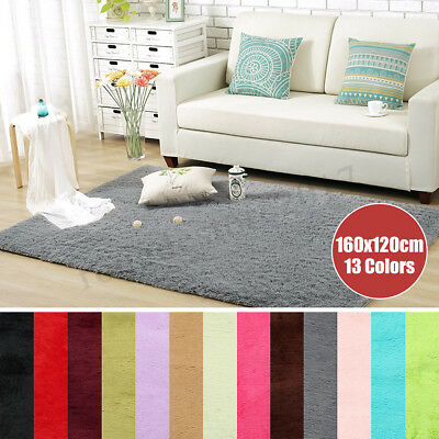 Shaggy Rugs Fluffy Rug Anti-Skid Area Floors Carpet Dining Room Mat Home Bedroom