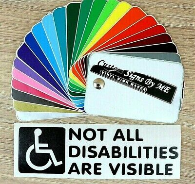 Not All Disabilities Are Visible Disabled Car Sticker Vinyl Decal Adhesive Black