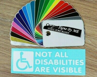 Not All Disabilities Are Visible Disabled Sticker Vinyl Decal Adhesive Tailgate