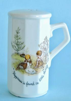 Holly Hobbie & Boy Friend & Bunnies Shaker Happiness Is Found In Little Things