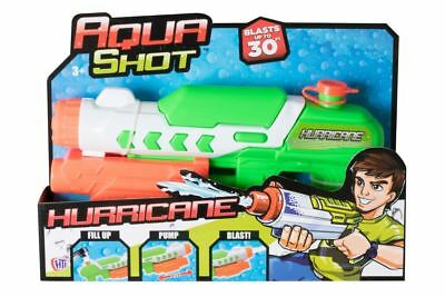 Aqua Shot Hurricane Kids Childrens Water Pistol Gun Blaster Super Soaker Toy