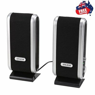 Portable USB Multimedia Stereo Speakers System For PC Computer Desktop NM