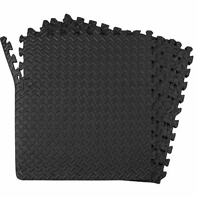 Interlocking Eva Soft Foam Exercise Floor Mats Gym Garage House Office Mat