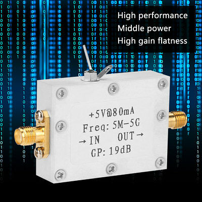 5M-5GHz Wideband  RF Signal Amplifier Gain 19dB@2G Broadband Amplification ZY