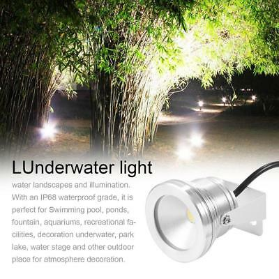 10W Underwater Flood Wash Pool Waterproof LED Light Spot Lamp Silver 12V Outdoor