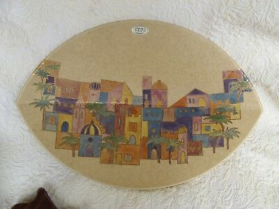 80s GERMAN CERAMIC JOPEKO BOWL ORIENTAL VILLAGE SCHALE SERIE TUNIS OBSTSCHALE