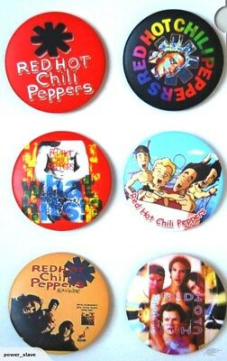 Red Hot Chili Peppers Badge Set - 6 badges!