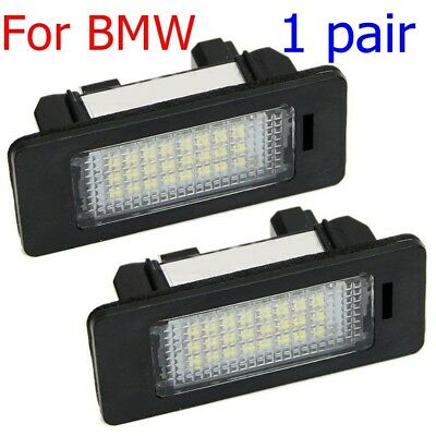 2x LED License Number Plate Light Lamp universal For BMW E82/E88/E90/E92/E93/E39