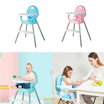 Foldable 3 in 1 Baby Toddler Infant Convertible Highchair Feeding Seat Chair