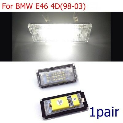 2pc 18LED ERROR FREE Rear License Number Plate light For BMW E46 4D 1998-2003