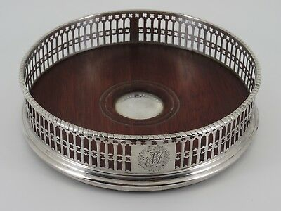 Fine Antique Georgian George Iii Solid Sterling Silver Wine Coaster London 1774