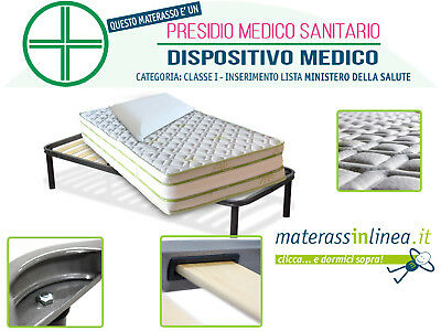 Kit Marilyn Singolo - Materasso Memory E Lattice + Rete A Doghe + Cuscino Memory