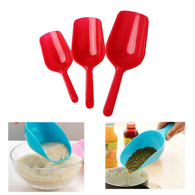 3pcs Multifunctional Plastic Pet Food Spoon Plastic Dog Cat Food Scoops Set HOT