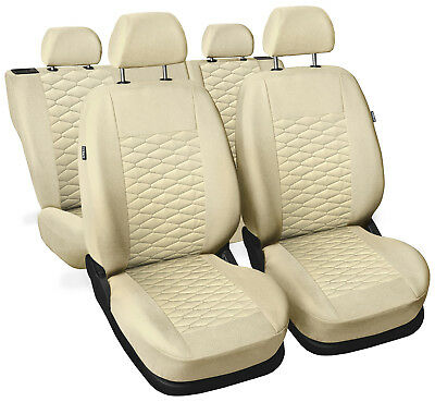CAR SEAT COVERS  fit Vauxhall Astra  - beige leatherette Eco leather