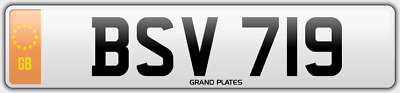 Dateless number plate BSV 719 UK NON DATING CHERISHED REGISTRATION BS BV SV REG