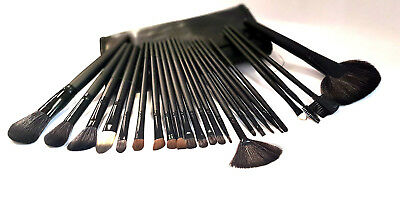 Set 18 24 pennelli Make Up Professionali + Pochette set Cosmetic Brush Trucco