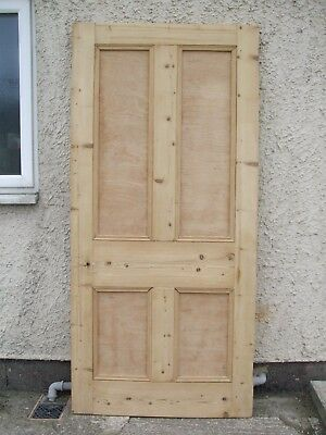 """35""""3/4 x 77"""" Large Internal Victorian Stripped Pine Four Panel house Door MP-875"""