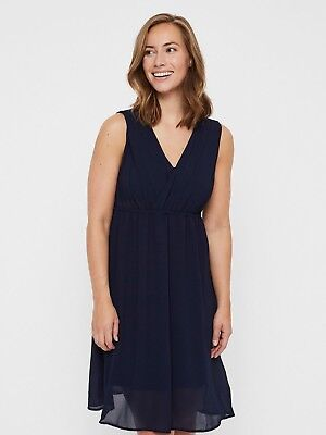 Mamalicious Nursing Dress Breastfeeding Navy Special Occasion Party £40