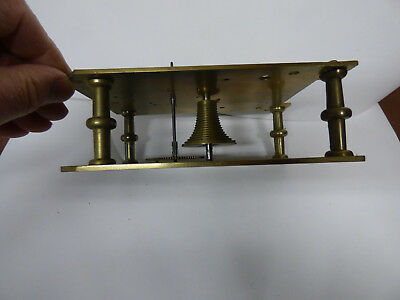 Longcase clock movement plates pillars etc 18thc 19thc