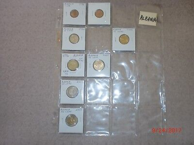 - Albania - 8  Old & New Coins - 1995-2008 - Some Rare - All Different#sh 2