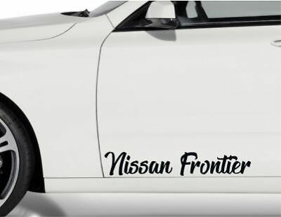 2x Door Stickers fits Nissan Frontier Premium Quality Vinyl Decal CC51