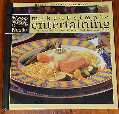 make it simple entertaining nestle cookbook a cond buy it now