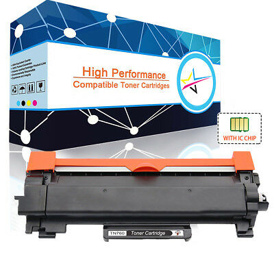 High Yield TN760 Toner Cartridge with IC CHIP for Brother HL-L2390DW DCP-L2550DW