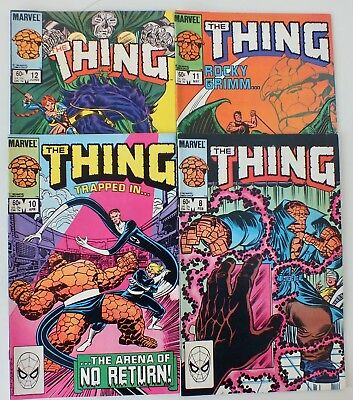 4 issues of The Thing - Issue # 8, 10, 11, 12 (1984) - Marvel Comics - VF (661)