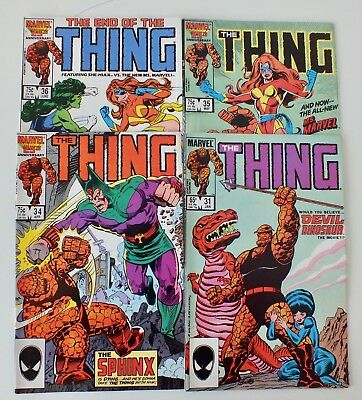 4 issues of The Thing - Issue # 31, 34, 35, 36 (1986) - Marvel Comics - VF (663)