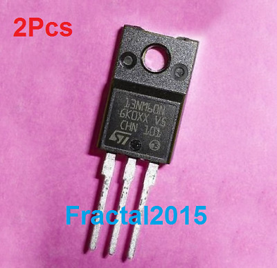 2Pcs Stf13Nm60N 13Nm60 To-220F 13Nm60N